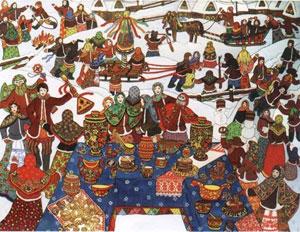 Comemoração do Ano Novo na Rússia Pagã