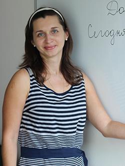 Professora de russo Marina Sinegub Diniz