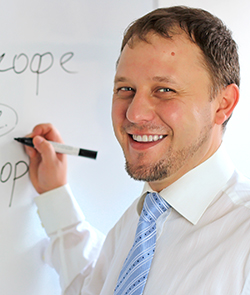 Professor de russo Ruslan Burygin