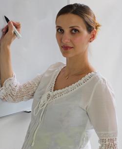 Professora de russo Snizhana Maznova
