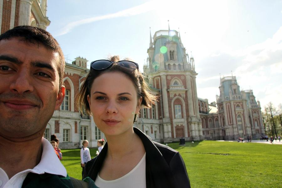 2015, com Victoria no parque Tsaritsyno