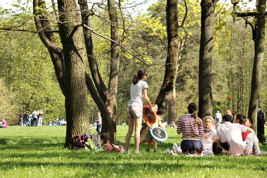 2015, pessoas no parque Tsaritsyno