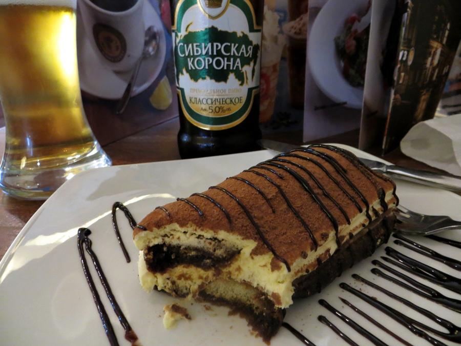 Tiramissu e cerveja