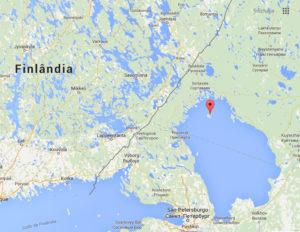 Ilha Valaam onde foi localizado um dos externatos para veteranos